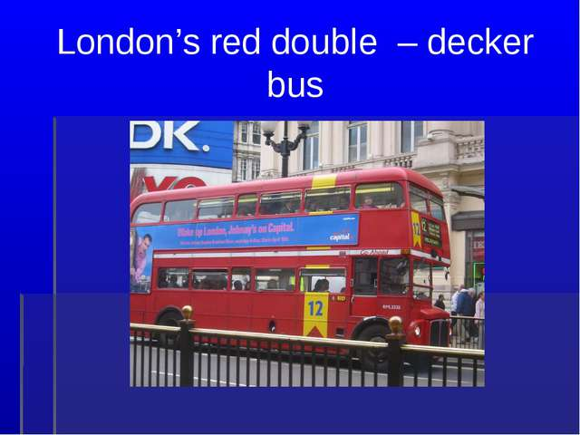 London's red double – decker bus