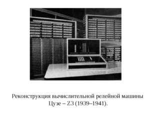 Реконструкция вычислительной релейной машины Цузе – Z3 (1939–1941).