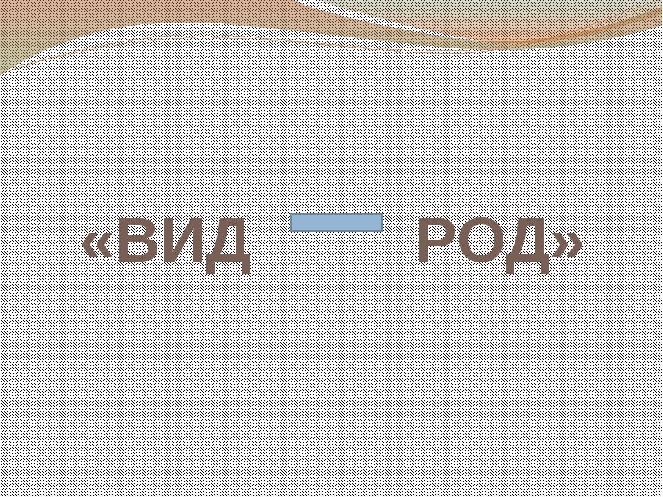 «ВИД РОД»