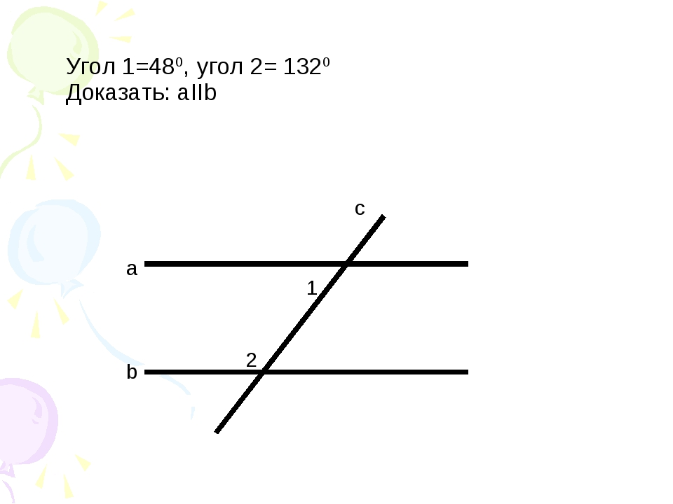 a b c 1 2 Угол 1=480, угол 2= 1320 Доказать: аIIb