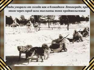 Люди умирали от голода как в блокадном Ленинграде, при этом через город шли м