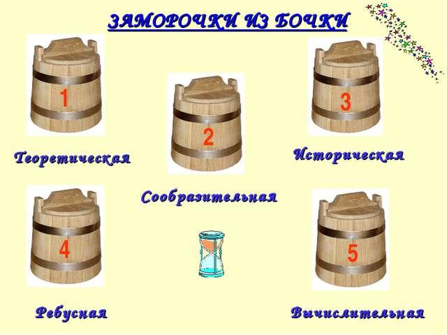 Историческая Сообразительная Вычислительная Теоретическая Ребусная ЗАМОРОЧКИ...