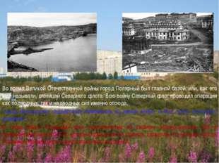 Во время Великой Отечественной войны город Полярный был главной базой, или, к