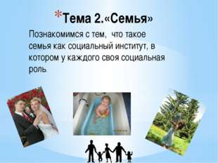 Создаталь ЦОРа учитель МОУСОШ №4 Спиридонова Н.Н. Тема 2.«Семья» Познакомимся