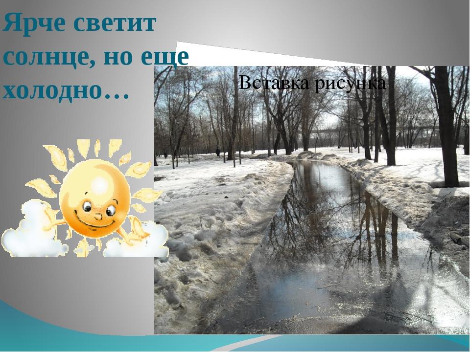 Ярче светит солнце, но еще холодно…