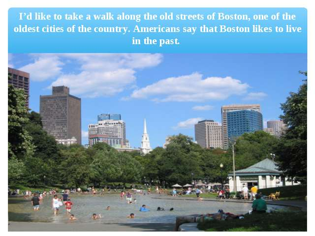 I'd like to take a walk along the old streets of Boston, one of the oldest ci...