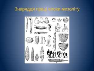 Знаряддя праці епохи мезоліту