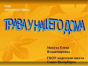 Макуха Елена Владимировна ГБОУ кадетская школа Санкт-Петербурга УМК «ПЕРСПЕКТ