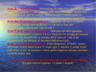 1топ:Дөңгелек көк түс- Жануарлар бөлімін оқыған кездегі білімдеріңді еске тү