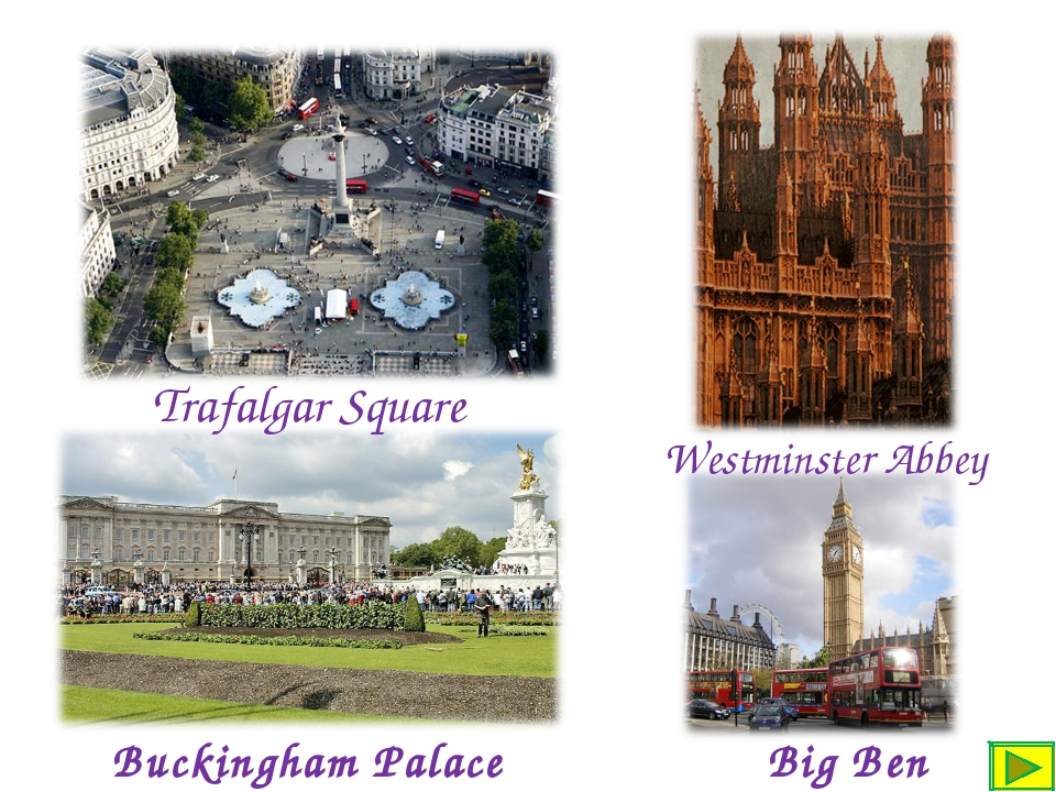 Buckingham Palace Big Ben Westminster Abbey Trafalgar Square