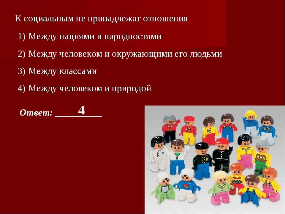 К социальным не принадлежат отношения Между нациями и народностями Между чело...