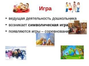 Игра ведущая деятельность дошкольника возникает символическая игра появляютс