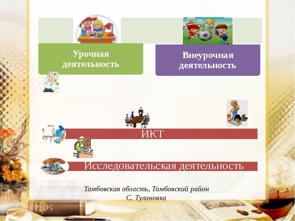 ИКТ Проектная деятельность Исследовательская деятельность Тамбовская область...