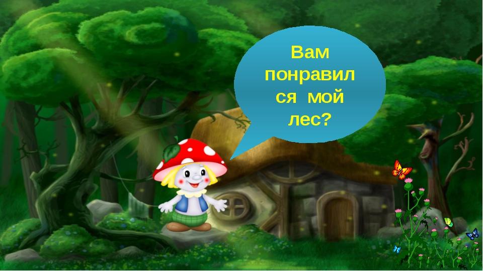 Вам понравился мой лес?