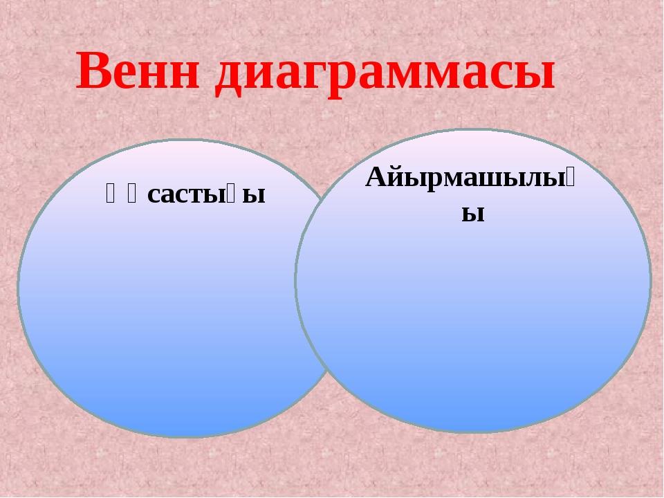 Ұқсастығы Айырмашылығы Венн диаграммасы