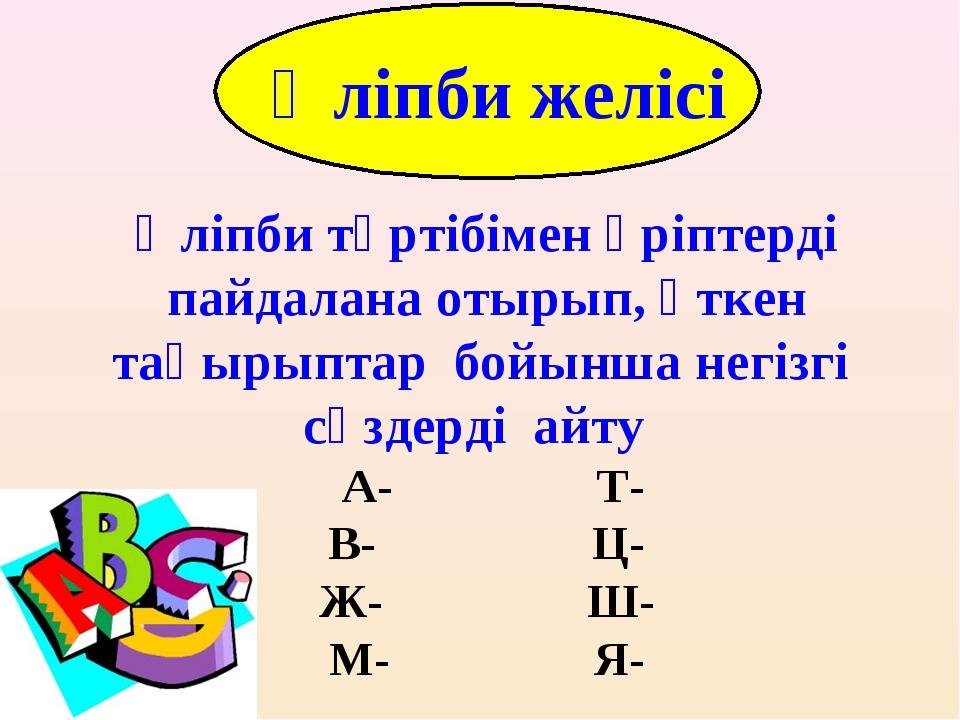 Alphabet Line Әліпби тәртібімен әріптерді пайдалана отырып, өткен тақырыптар...