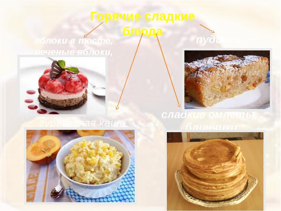 Горячие сладкие блюда яблоки в тесте, печеные яблоки, шарлотка пудинги гурьев...