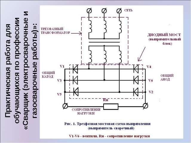 Практическая работа для обучающихся по профессии «Сварщик (электросварочные и...