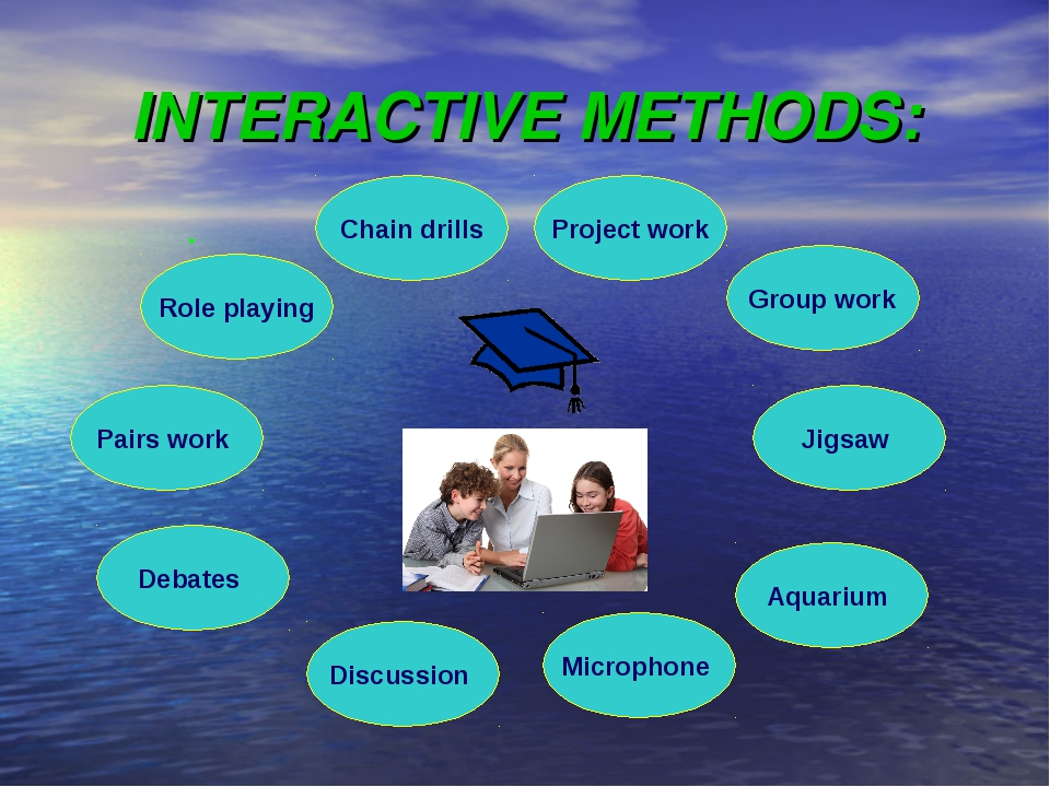 INTERACTIVE METHODS: Chain drills Discussion Debates Project work Microphone...