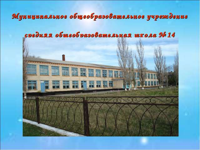 Муниципальное общеобразовательное учреждение средняя общеобразовательная школ...