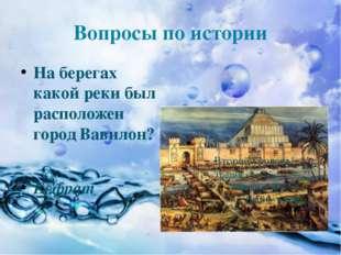 Вопросы по истории На берегах какой реки был расположен город Вавилон? Евфрат