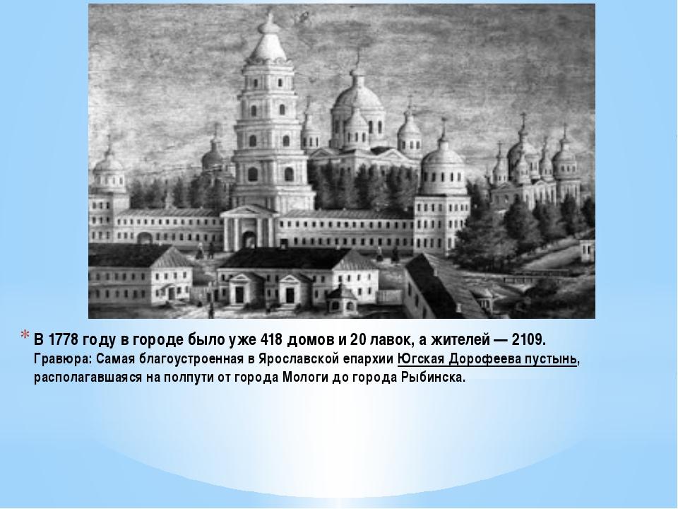 В 1778 году в городе было уже 418 домов и 20 лавок, а жителей — 2109. Гравюра...