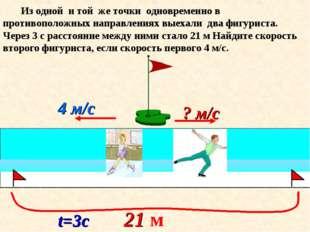 4 м/с Из одной и той же точки одновременно в противоположных направлениях вые