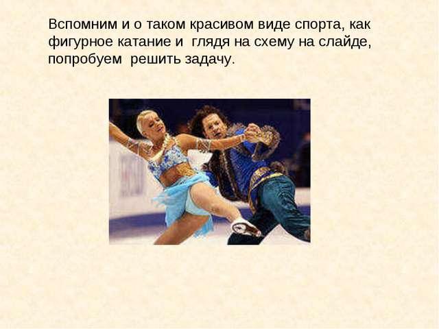 Вспомним и о таком красивом виде спорта, как фигурное катание и глядя на схем...
