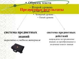 Предметные результаты система предметных знаний выражена в учебном материале