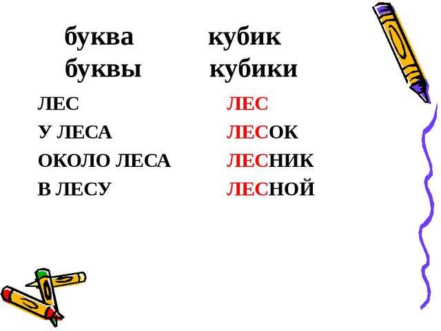 буква кубик буквы кубики ЛЕС У ЛЕСА ОКОЛО ЛЕСА В ЛЕСУ ЛЕС ЛЕСОК ЛЕСНИК ЛЕСНОЙ