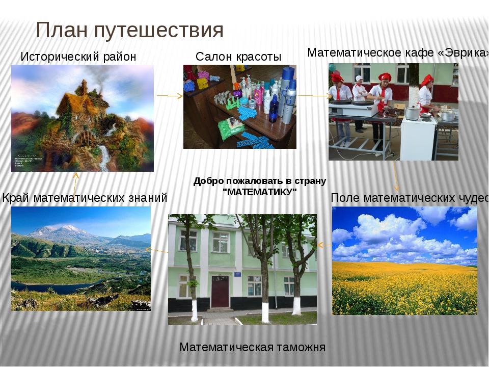 """План путешествия Добро пожаловать в страну """"МАТЕМАТИКУ"""" Исторический район Са..."""