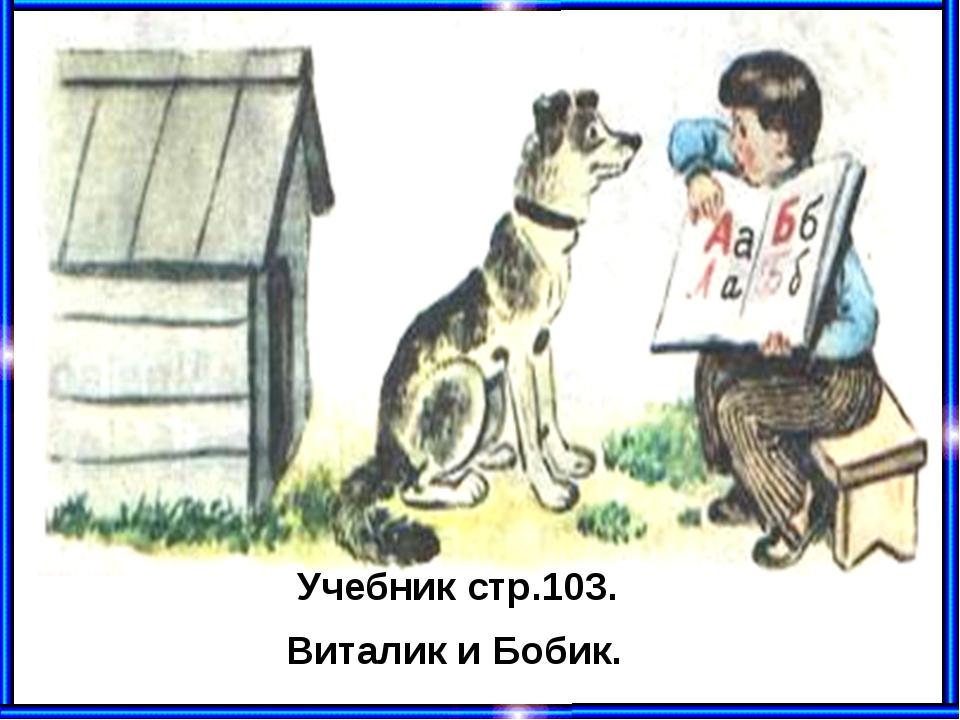 Учебник стр.103. Виталик и Бобик.