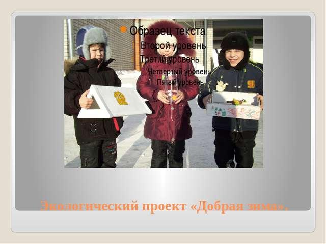 Экологический проект «Добрая зима».
