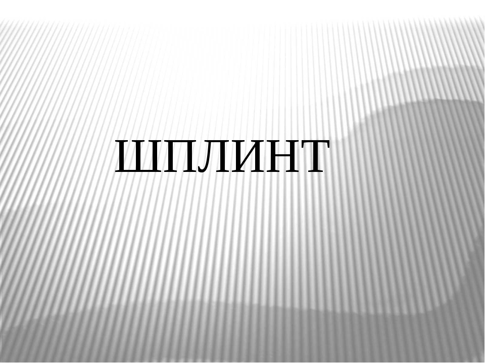 ШПЛИНТ