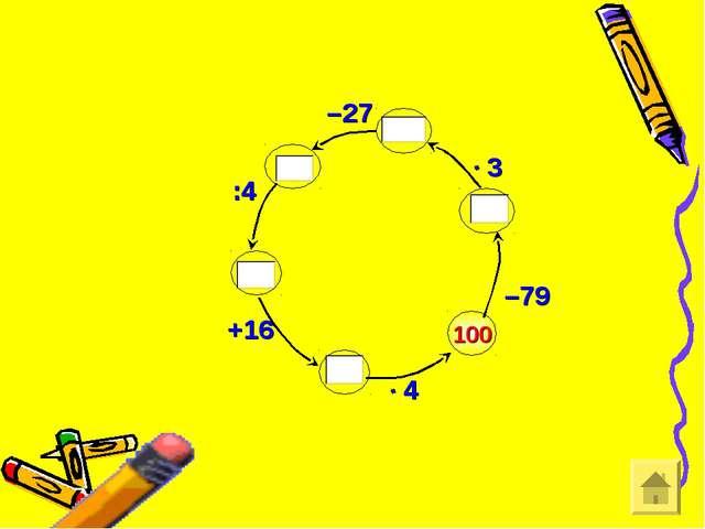 100 –79 –27 :4 +16