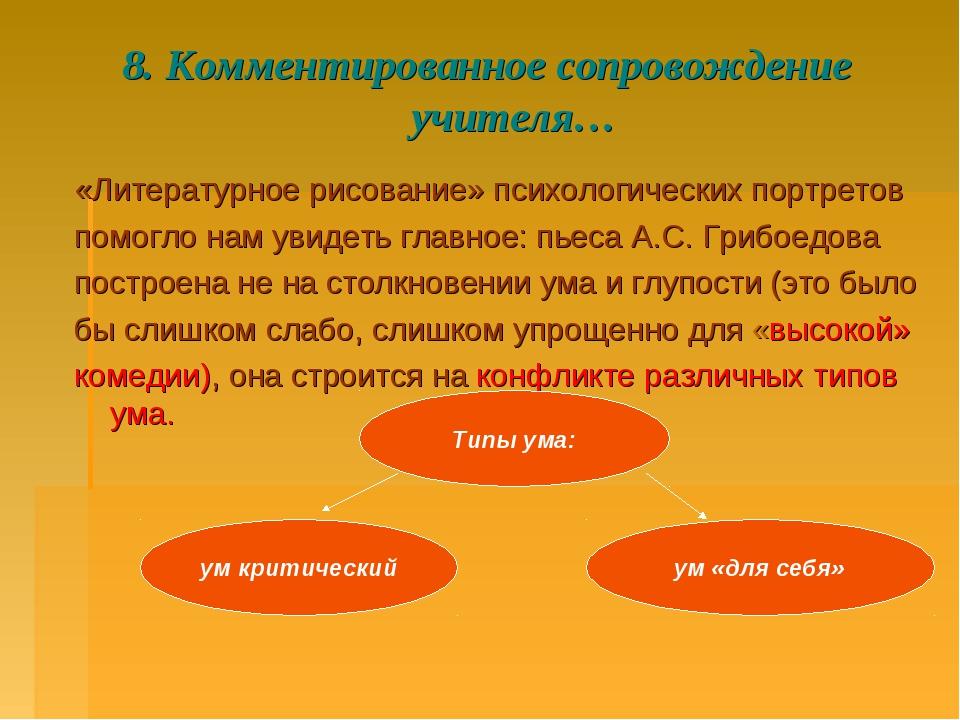 8. Комментированное сопровождение учителя… «Литературное рисование» психологи...