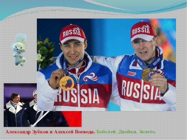 Александр Зубков и Алексей Воевода. Бобслей. Двойки. Золото.