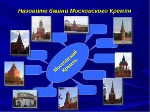 Назовите башни Московского Кремля Московский Кремль