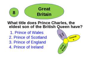 What title does Prince Charles, the eldest son of the British Queen have? 1.