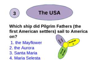 Which ship did Pilgrim Fathers (the first American settlers) sail to America