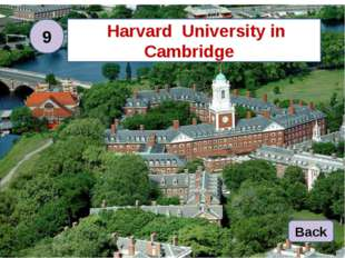Harvard University Harvard University in Cambridge Back 9