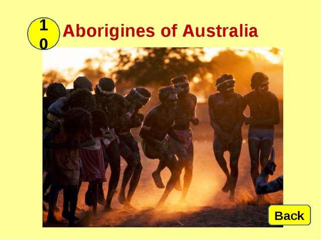Aborigines of Australia 10 Back