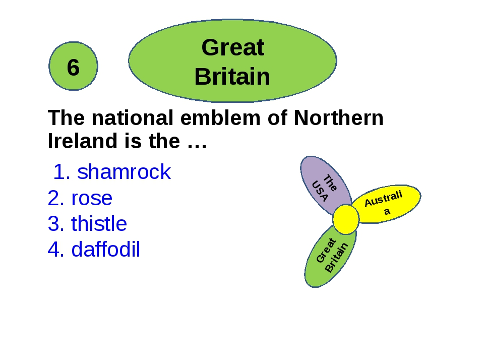 The national emblem of Northern Ireland is the … 1. shamrock 2. rose 3. this...