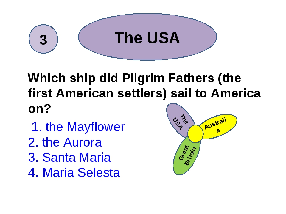 Which ship did Pilgrim Fathers (the first American settlers) sail to America...