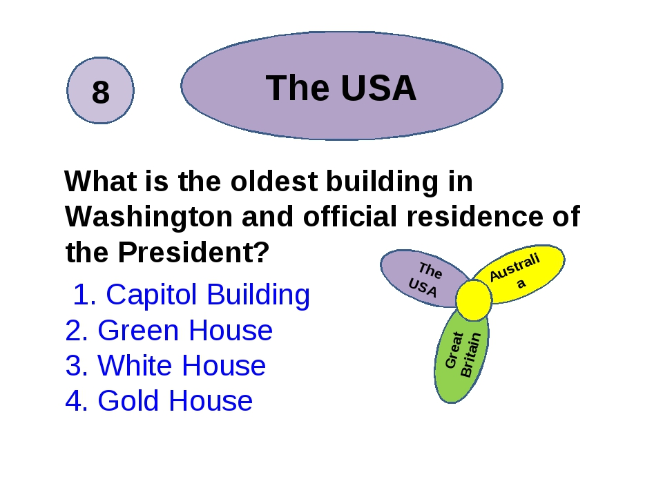 What is the oldest building in Washington and official residence of the Pres...