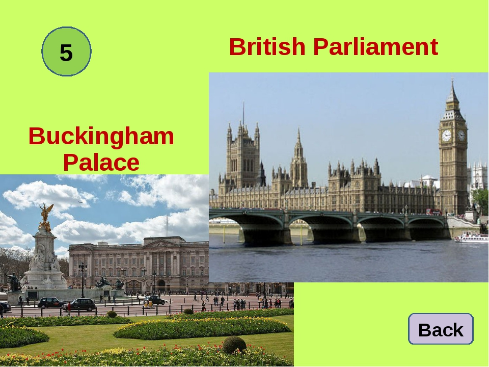 British Parliament Buckingham Palace 5 Back