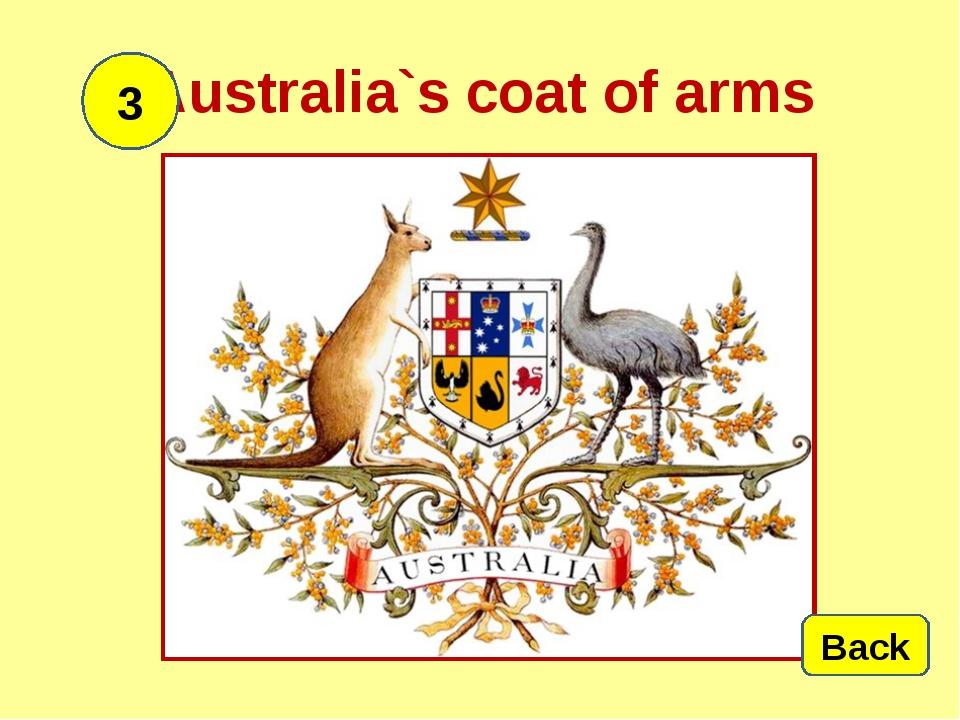 Australia`s coat of arms Back 3
