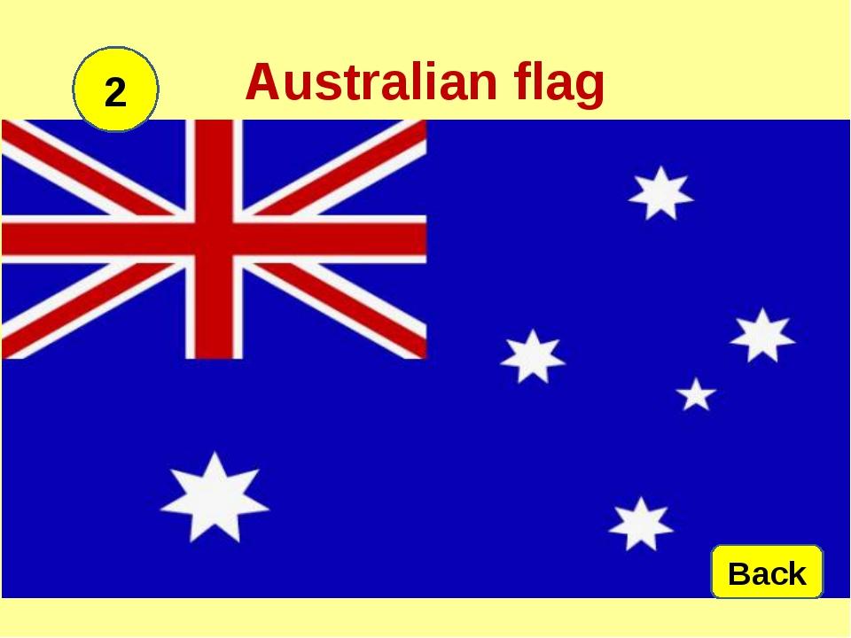 Australian flag 2 Back