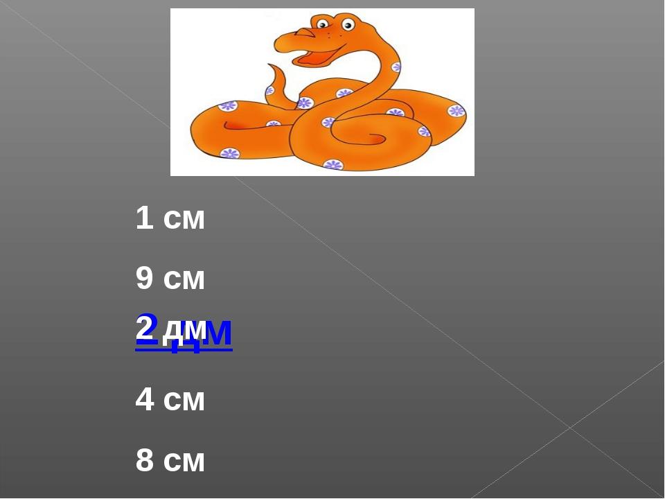1 см 9 см 4 см 8 см 2 дм 2 дм