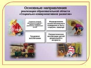 Основные направления реализации образовательной области «Социально-коммуникат